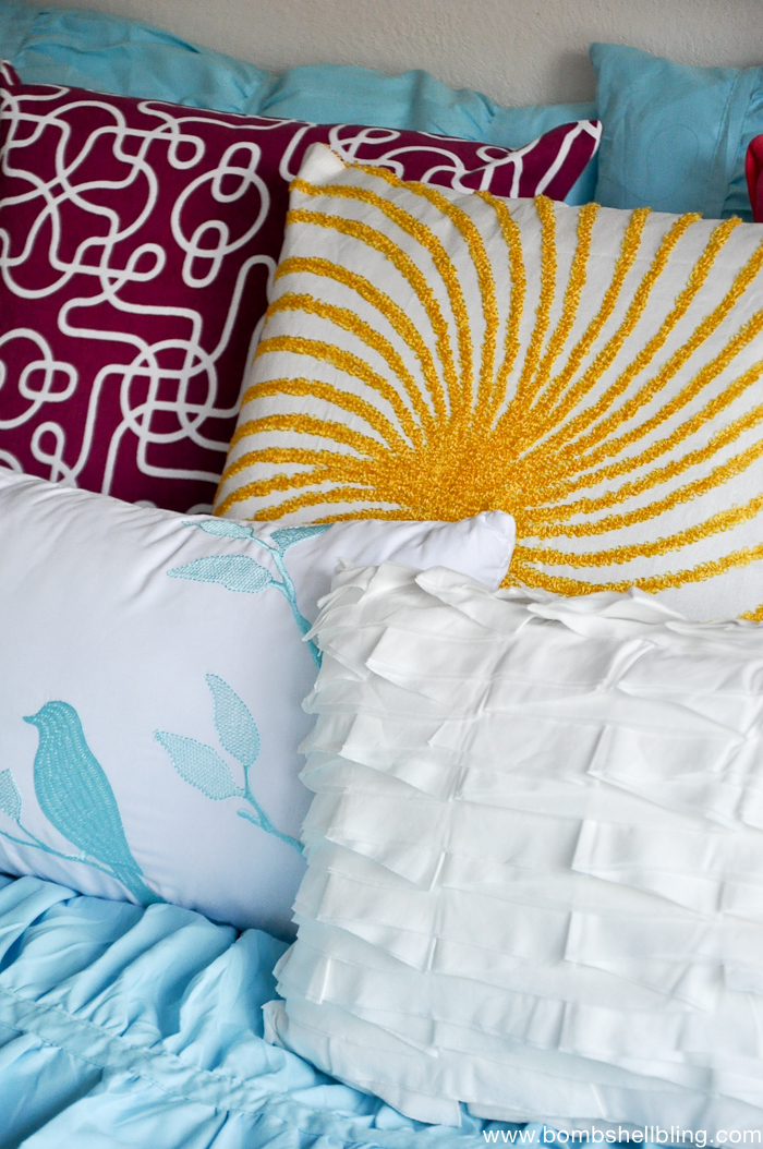 Using Colorful Throw Pillows For Pops Of Color