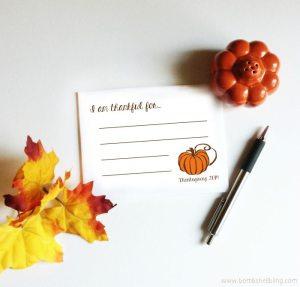 FREE Thanksgiving Printable Cards