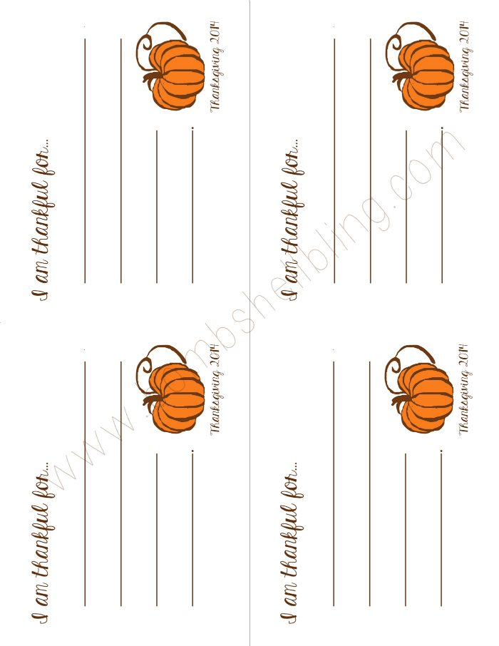 image relating to I Am Thankful for Printable called I am Grateful Free of charge Thanksgiving Printable