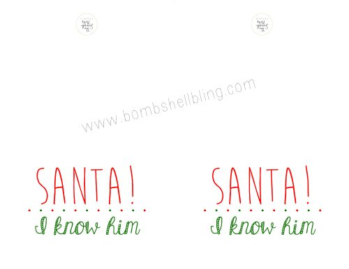 ELF PRINTABLE CARD