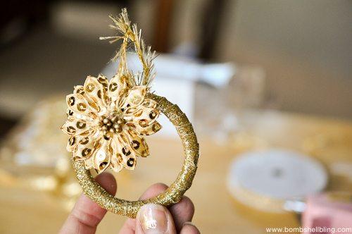 Gold Wreath Ornament Tutorial-8