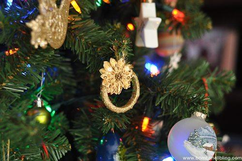 Gold Wreath Ornament Tutorial-9