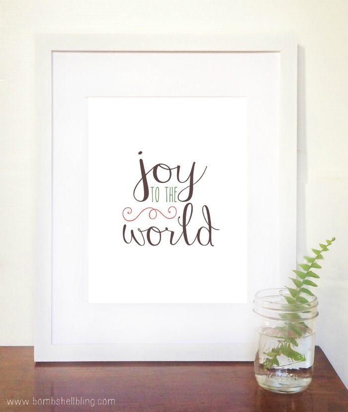 FREE Joy to the World Printable