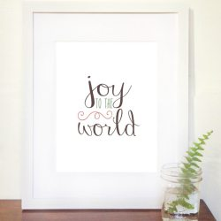 Joy to the World FREE Printable