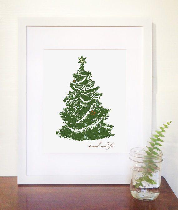 tinsel and fir