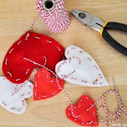Stitched Heart Garland