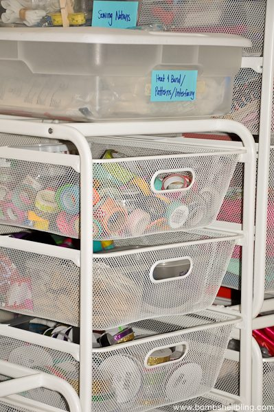 Basket drawers from Ikea - Perfect for craft supplies!