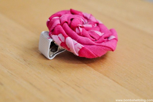 Rolled Fabric Flowers-9