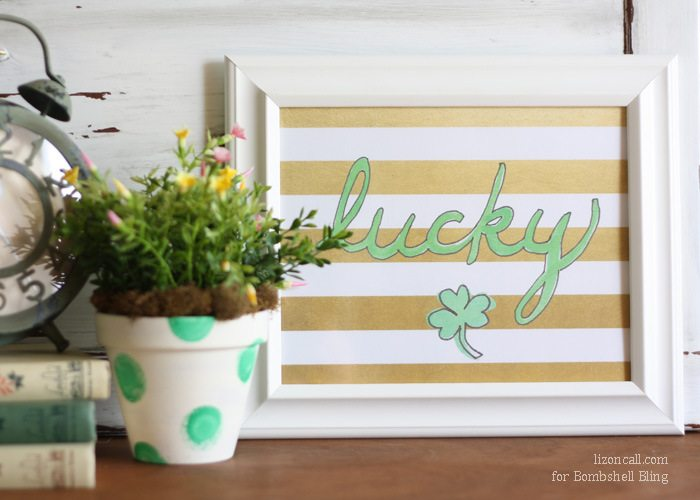 gold and green lucky printable