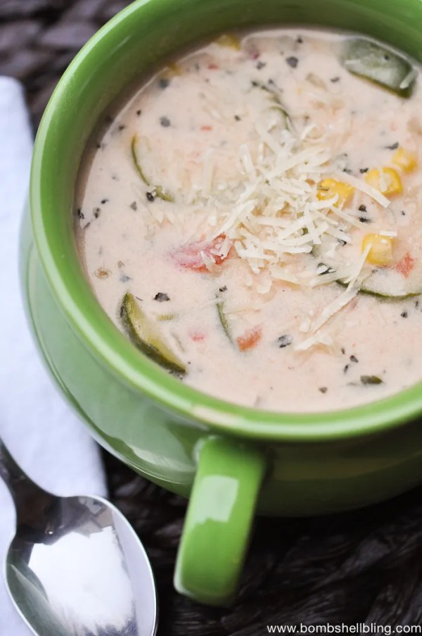 This cheesy zucchini soup is DIVINE! Even my kids love it!