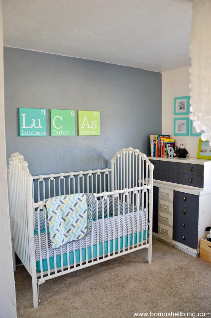 Darling Retro Inspired Baby Nursery!  Swoon!