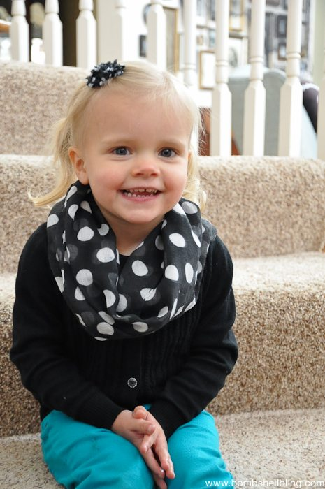 How to Sew a Toddler Infinity Scarf-7