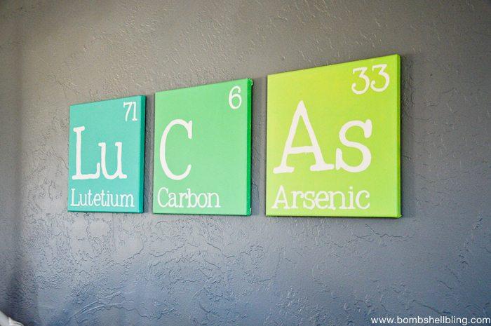 This periodic table name art is too fun!