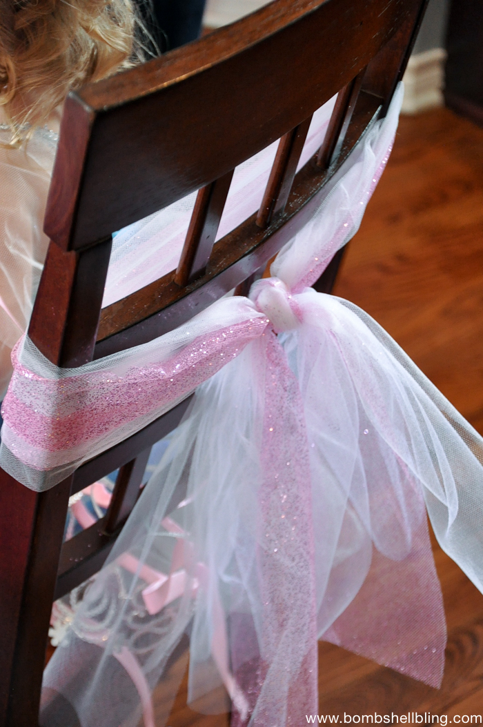 Tulle on chairs! Quick and FANCY!