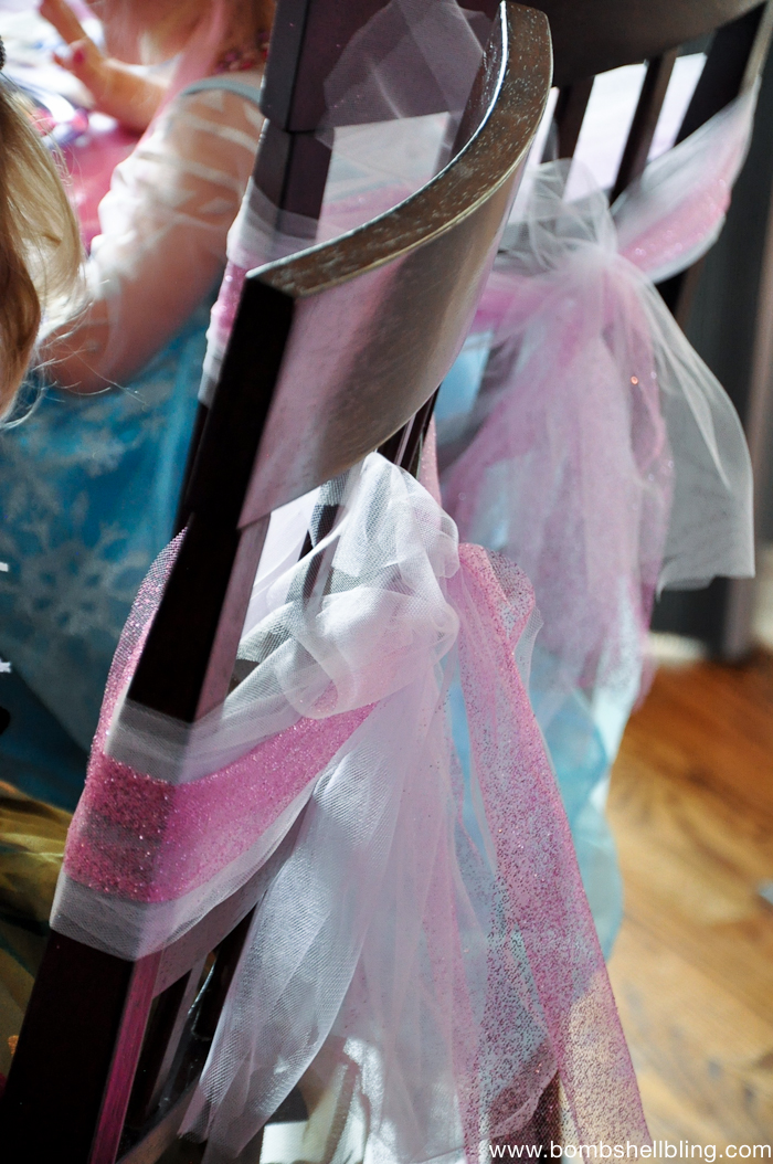 Tulle on chairs! Perfect for a wedding or party!