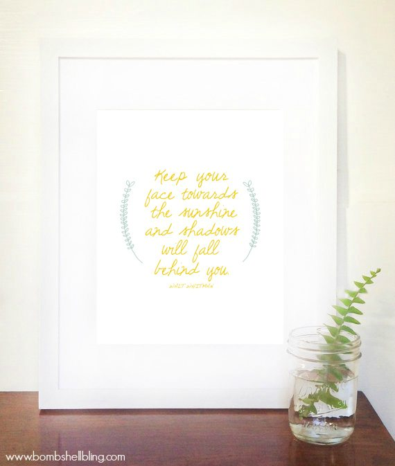 I love this inspirational Walt Whitman quote printable.  So pretty.