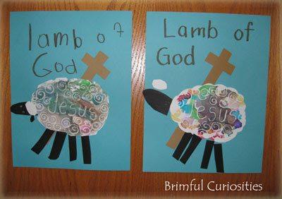 Lamb of God Crayon Resist Lenten Craft from Brimful Curiosities