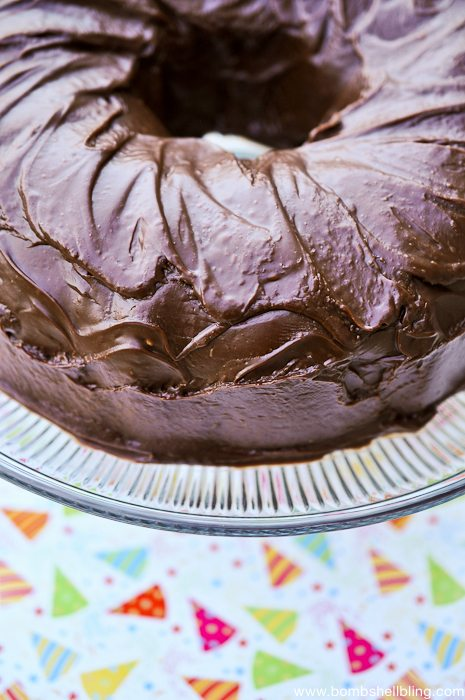 This PERFECT chocolate bundt cake is ideal for any special occassion! Rich, satisfying, and just plain DIVINE. It is the author's family's go-to for all birthdays and special events!