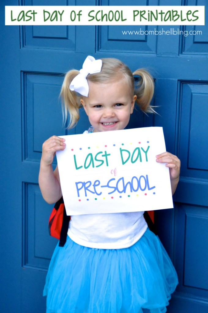 FREE Last Day of School Printables
