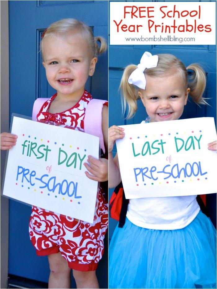 FREE School Year Printables J