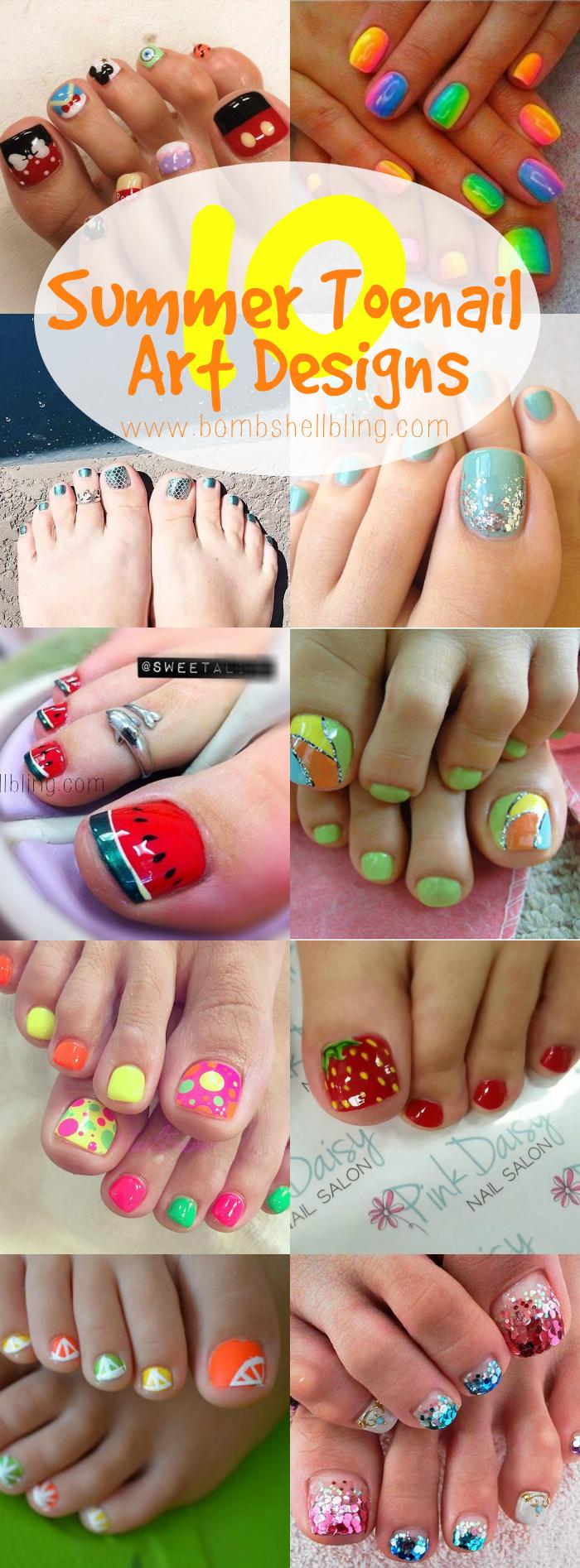 10 summer toenail art ideas 10 summer toenail art designs prinsesfo Image collections
