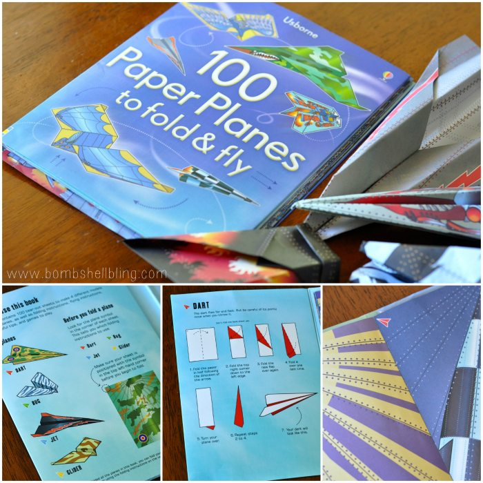 books for kids 100 Paper Planes to Fold & Fly collage