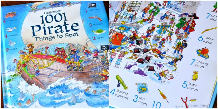books for kids 1001 Pirate Things to Spot collage