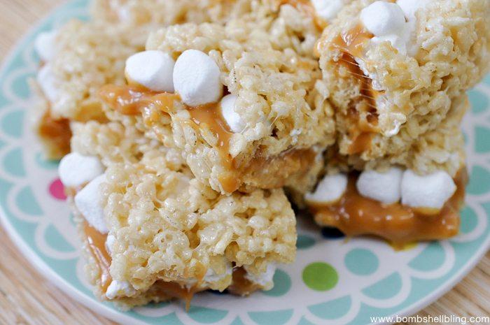 Caramel Rice Krispie Treat Sandwiches-10