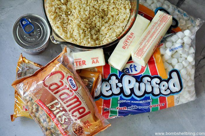 Caramel Rice Krispie Treat Sandwiches