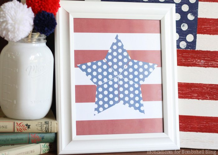This fun 4th of July free printable is perfect for your fab 4th festivities