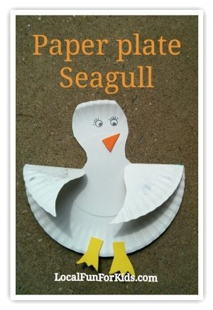 summer craft paper plate seagull