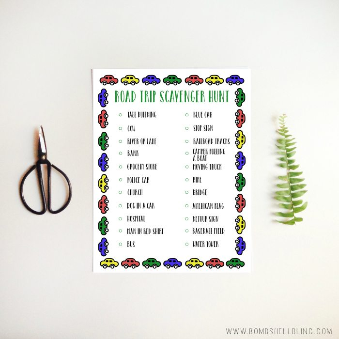 graphic regarding Road Trip Scavenger Hunt Printable identify Free of charge Printable Street Holiday vacation Scavenger Hunt