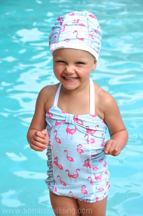 Janie and Jack Flamingo Swimsuit