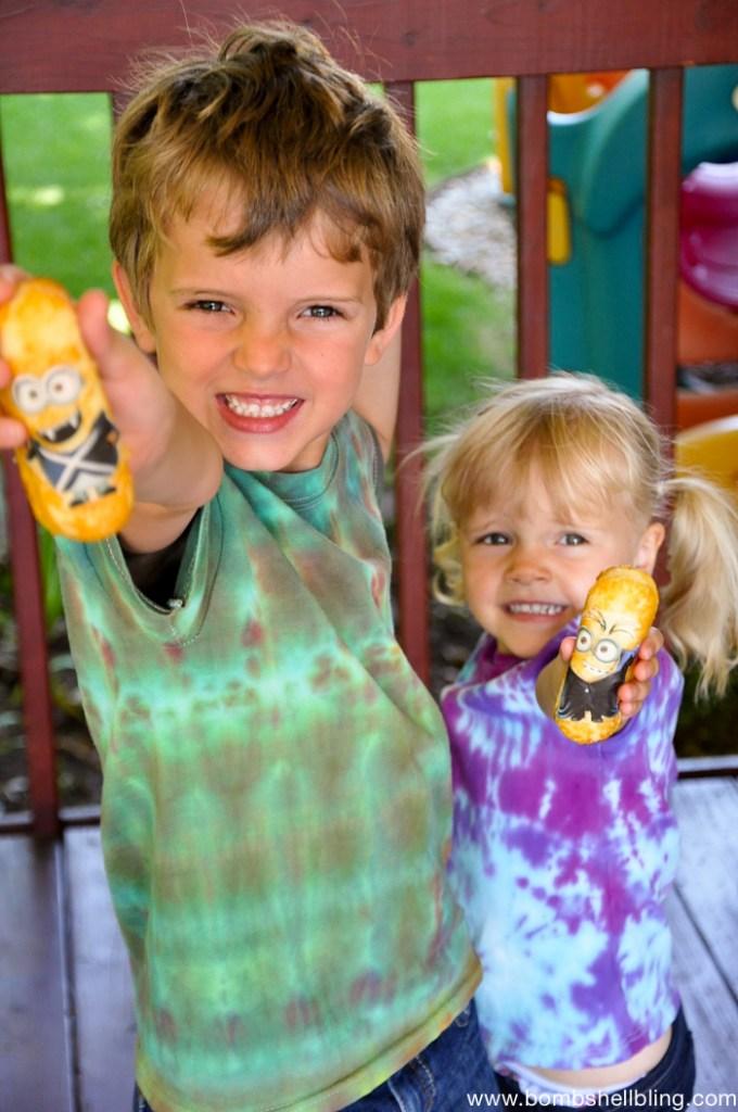 minion ideas kids holding twinkies