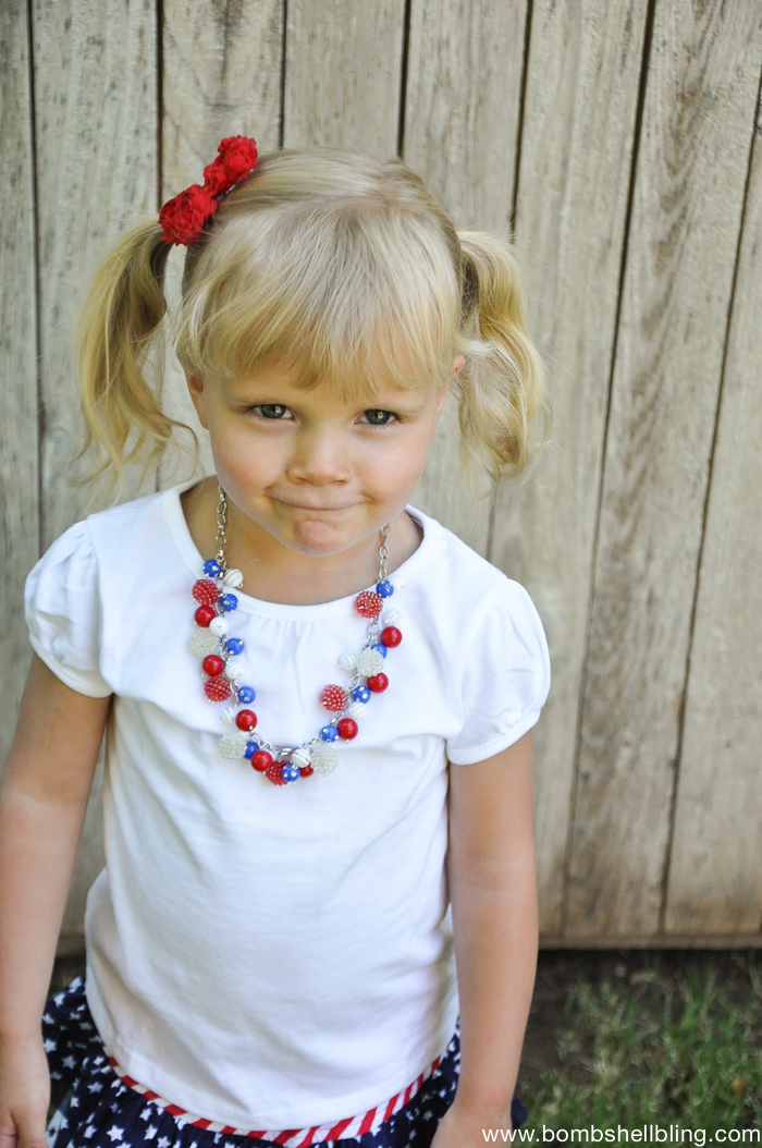 Patriotic Bauble Necklace-4