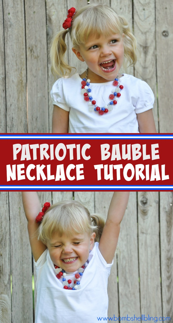 This necklace is the CUTEST for the 4th of July!!! Great tutorial!