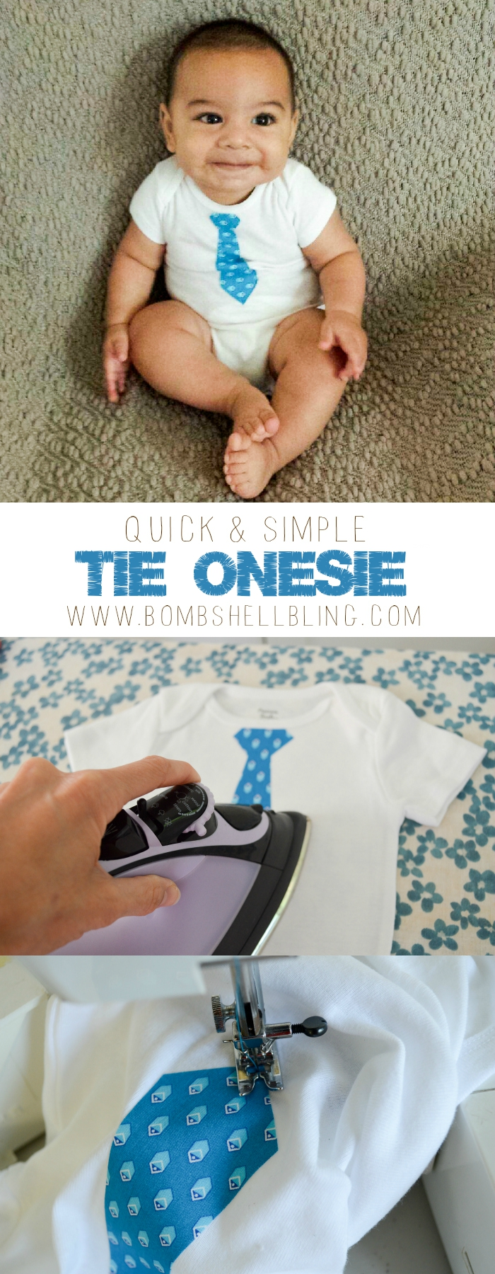 Quick & Simple Tie Onesie Tutorial