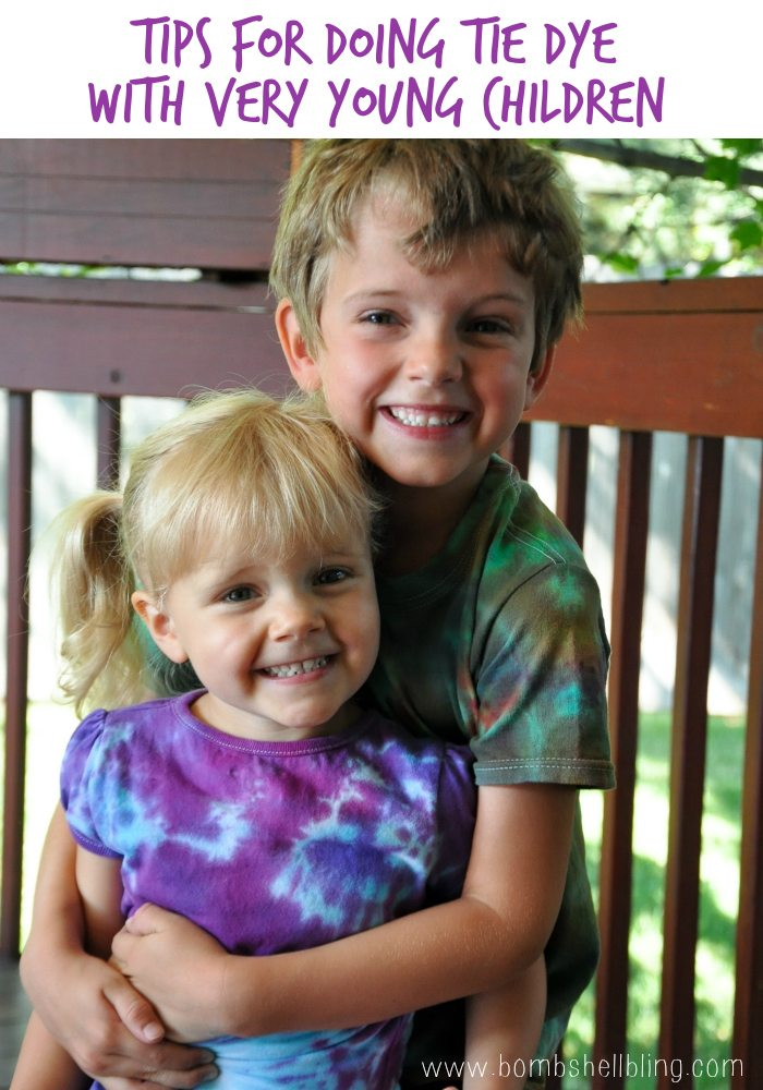 Tips for Doing Tie Dye With Very Young Children