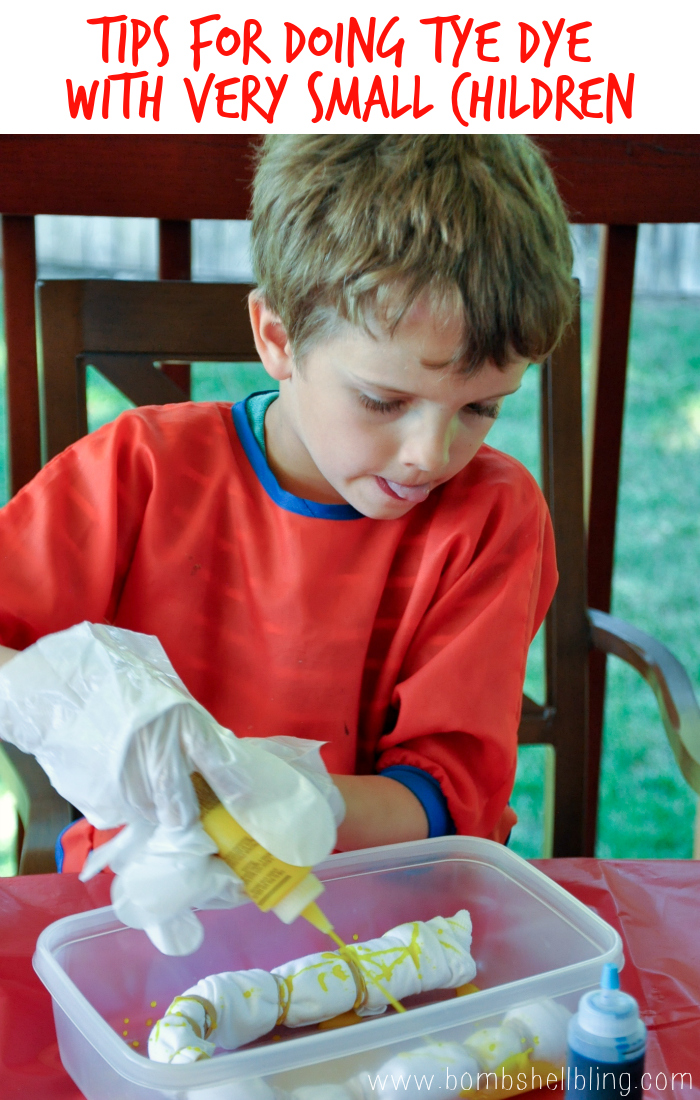 Tips for Doing Tye Dye Projects With Very Small Children