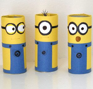 minion ideas cardboard-tube-minions