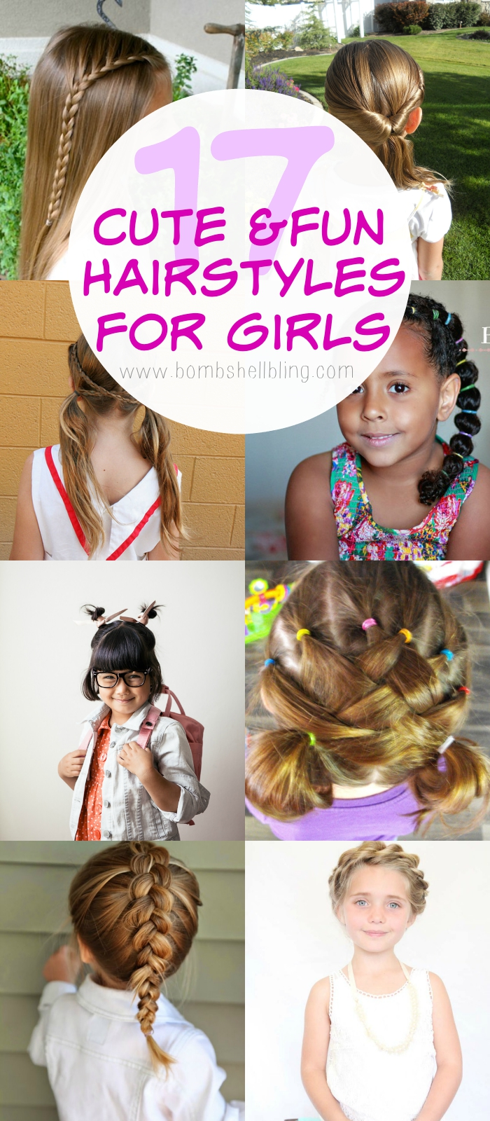 17 Cute & Fun Hairstyles for Girls