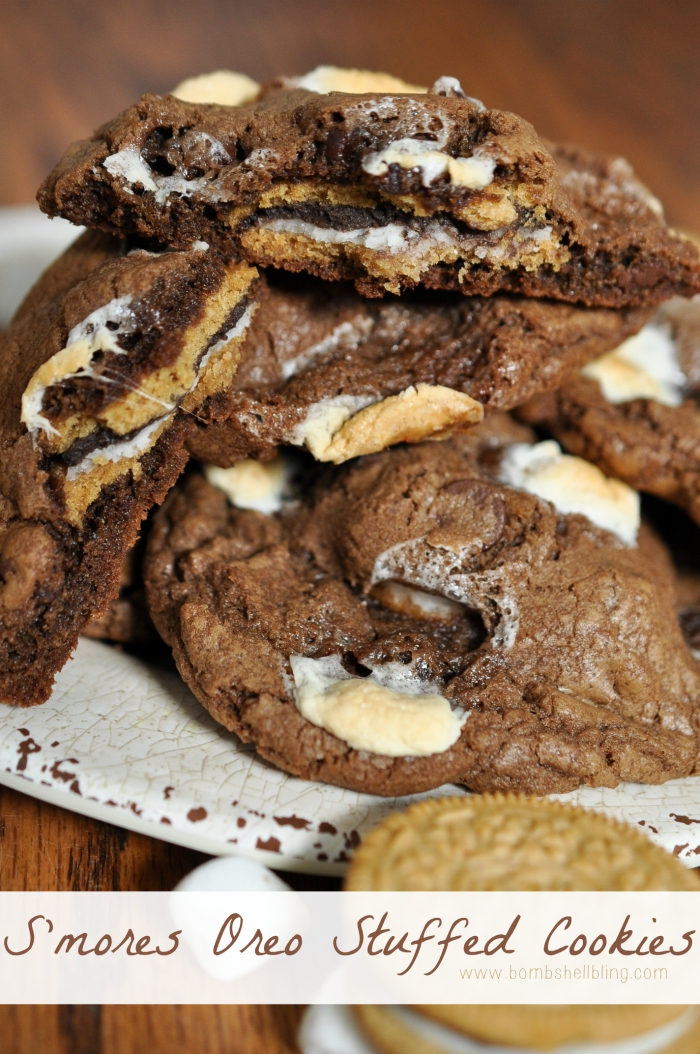 S'mores Oreo Stuffed Cookies Recipe