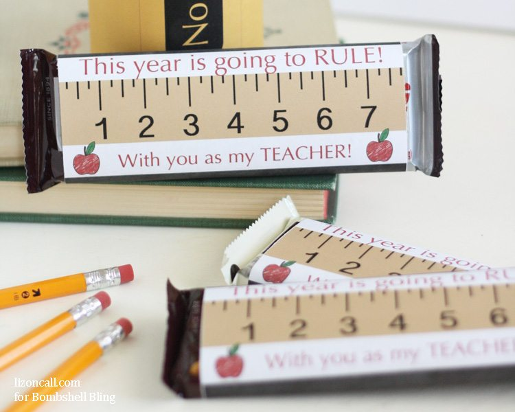 Free printable candy bar wrappers for back to school teach gift giving