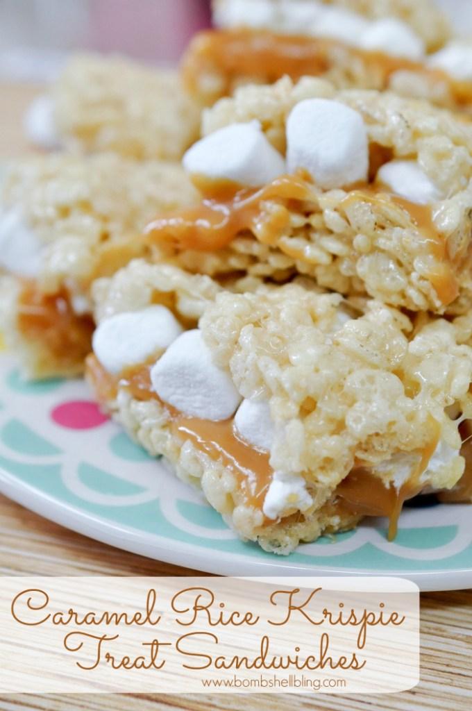 Caramel Rice Krispie Treats Recipe