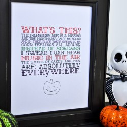 The Nightmare Before Christmas Printable