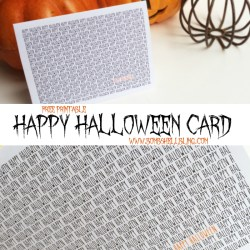 Free Printable HAPPY HALLOWEEN Card