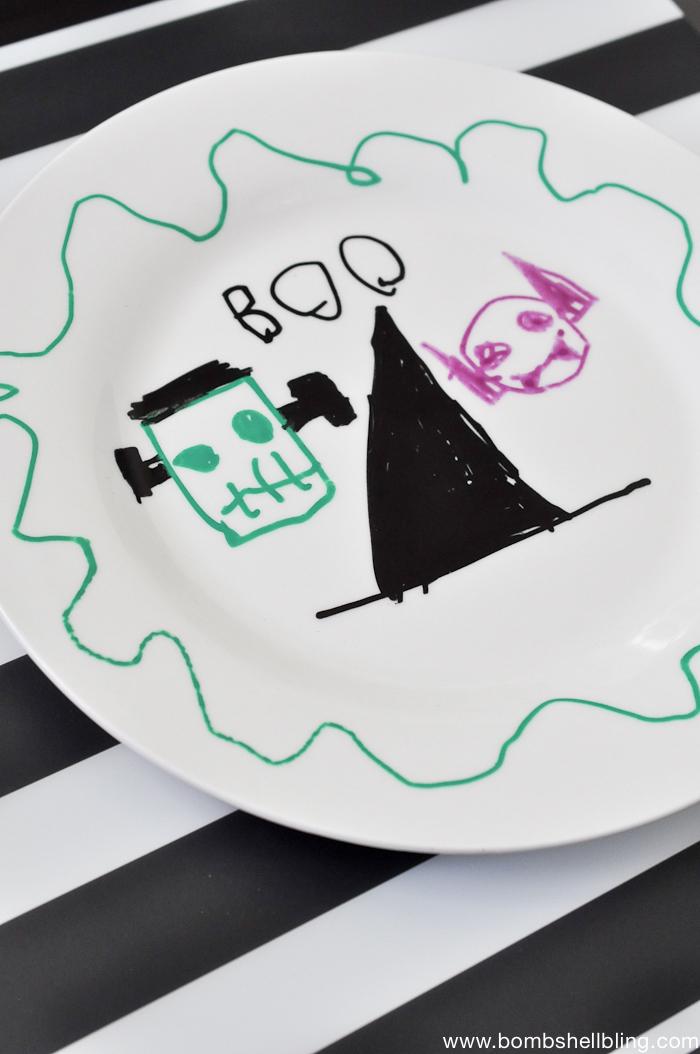 Halloween Paint Pen Plates-5
