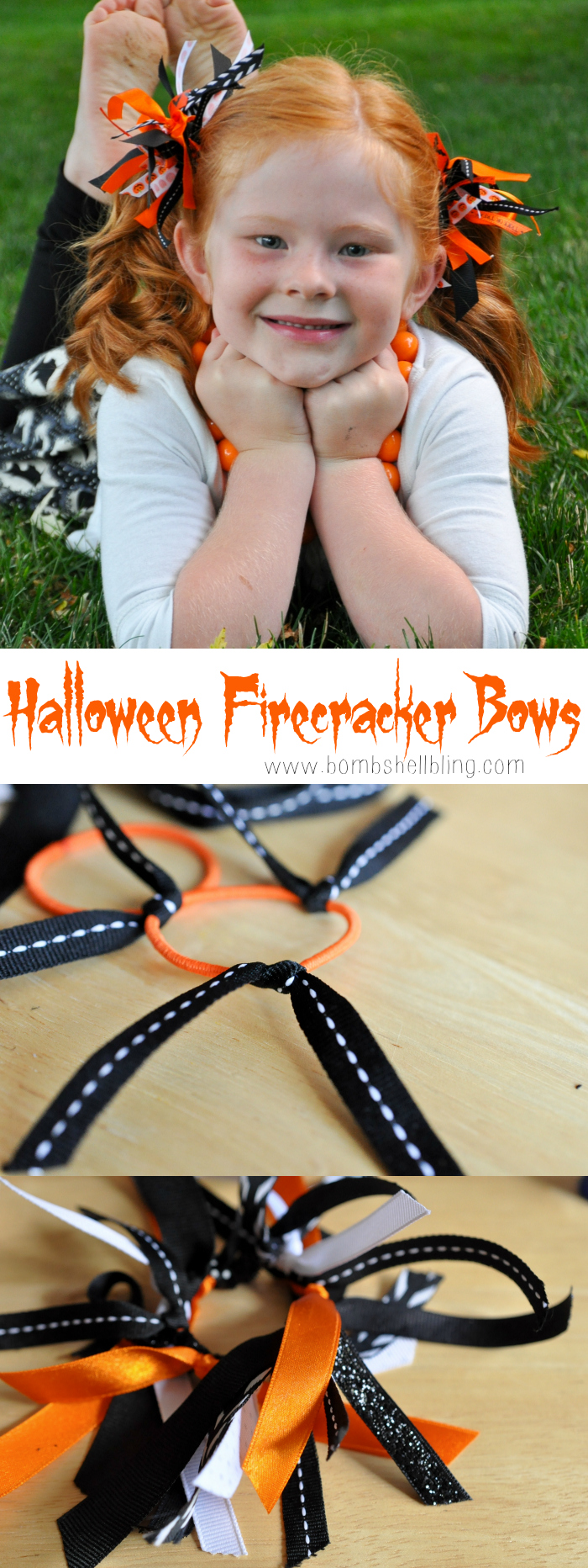 How to Make Halloween Firecracker Bows