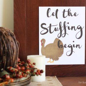Free Thanksgiving Printable - Let the Stuffing Begin