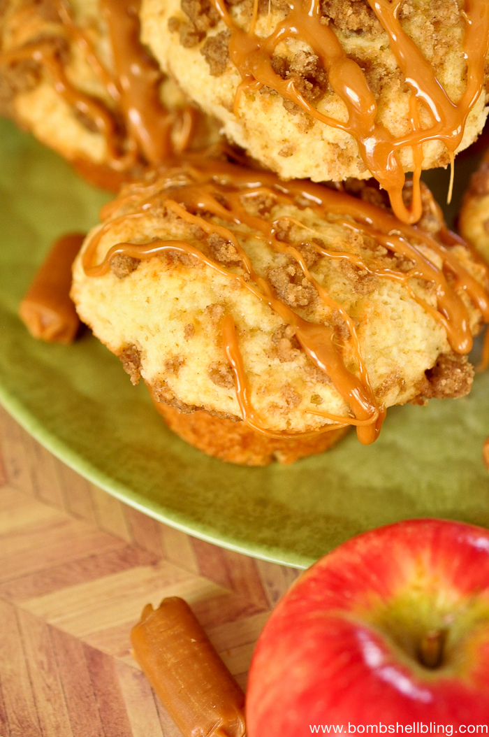Struesel Topped Caramel Apple Muffins -2